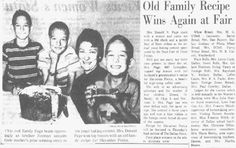 "An article about a baking contest at a fair, published in the Dallas Morning News (Dallas, Texas), 12 October 1963, section 3, page 2. Read more on the GenealogyBank blog: ""She Was the Bringer of Cake – Ways to Involve the Grandkids in Family History"" https://blog.genealogybank.com/she-was-the-bringer-of-cake-ways-to-involve-the-grandkids-in-family-history.html"