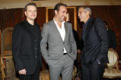 Matt Damon, Jean Dujardin et George Clooney à Paris pour l'avant-première de Monuments Men