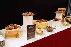 Buffet des salades au restaurant Le Rider lors du Jumping International de Bordeaux