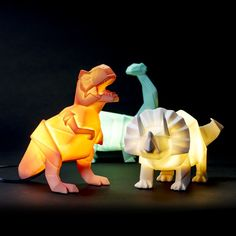 Dino Lamps by Bright Bedside Beasts