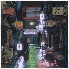 Shinji Tsuchimochi is creating a series of ukiyo-e style prints titled 100 Views of Tokyo.