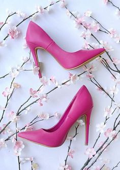 Click Your Heels Fuchsia Pointed Pumps at Lulu's - Trendslove