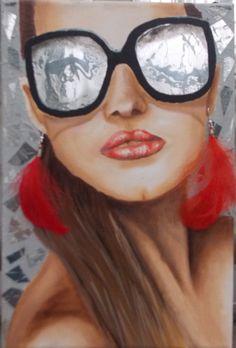 Mujer con lentes 3 -  80 x 60