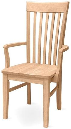 Tall Mission Dining Arm Chair   Free Shippng   465A - UnfinishedFurnitureExpo