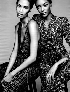 Photographer Patrick Demarchelier beautifully captures models Joan Smalls and Jourdan Dunn in a stripped-down editorial for W Magazine's February 2014 issue. Patrick Demarchelier, Trendy Fashion, Fashion Models, Spring Fashion, High Fashion, Women's Fashion, Fashion Trends, Fashion Editorial Couple, Jourdan Dunn