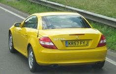 Mercedes SLK 200 in Yellow July 2013