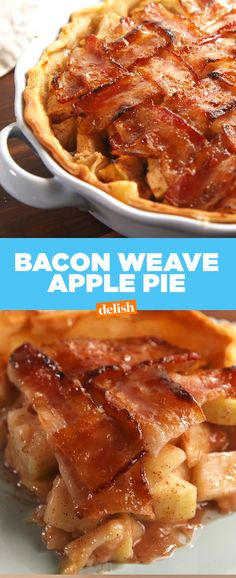 Bacon-Weave Apple Pie is the sweet and savory combo you've been missing. Get the recipe at Delish.com.