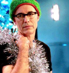 "dianasprxnce: ""Harrison Wells wearing Christmas hats """