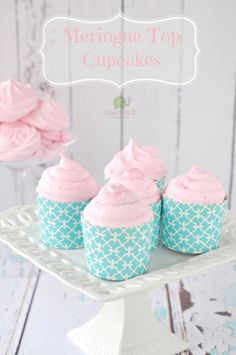 Meringue Topped Cupcakes by I Sugar Coat It!