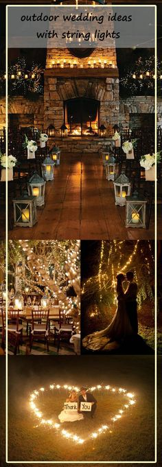amazing outdoor wedding inspiration with string lights