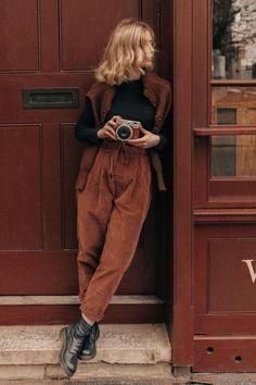Warm Outfits, Retro Outfits, Mode Outfits, Cute Casual Outfits, Winter Outfits, Vintage Outfits, Vintage Fashion, Fashion Outfits, Looks Pinterest