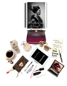 """""""What's In My Bag ?"""" by blonde-bedu ❤ liked on Polyvore featuring Charlotte Tilbury, Bobbi Brown Cosmetics, L'Oréal Paris, Casetify, Louis Vuitton, Dolce&Gabbana, Fendi, Elie Saab, Kate Spade and Parker"""