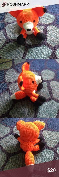 Crocheted fox Crocheted fox stuffed animal. NWOT smoke free home. Other