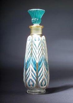 """""""Egyptian Alabastron,"""" a Rare BACCARAT perfume bottle for Edouardo, 1927 by cristina"""