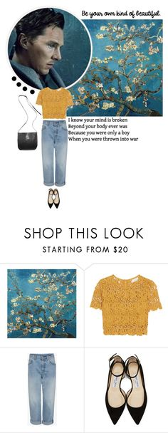 """""""Benedict Cumberbatch"""" by chiara221 ❤ liked on Polyvore featuring Miguelina, Jimmy Choo and Ann Demeulemeester"""