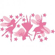 THE WALL STICKER COMPANY PINK FAIRY DECALS Part 45