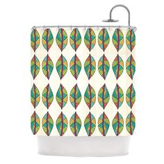 Tribal Leaves Shower Curtain