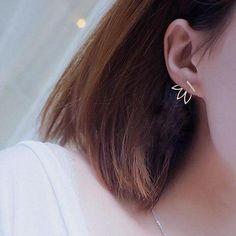 Ear Piercing Jewelry and Earrings for the Minimalist - Drea Ear Jacket at MyBodiArt.com