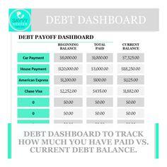 Debt SnowballLoan Payoff Excel Spreadsheet Debt Planner Debt