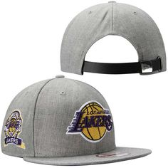 Mens Los Angeles Lakers New Era Gray Side Ringer 9FIFTY Adjustable Hat 5287e78ad29