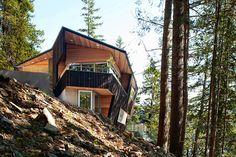 Многоуровневый дом в лесу от BattersbyHowat Architects