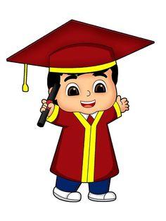 Graduation Cartoon, Graduation Diy, Graduation Decorations, Islamic Cartoon, Hijab Cartoon, Cartoon Kids, Clipart, Cute Drawings, Muslim