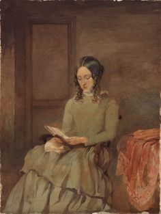 Unknown portrait formerly considered to be Charlotte Brontë. Anonymous.