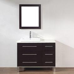 Spa Bathe Grada Chai (Common: 42-in x 22-in) Drop-in Single Sink Bathroom Vanity with Quartz Top (Mirror Included) (Actual: 42-in x 22-in)