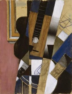 """Guitarra y pipa"" Juan Gris (1912) Periodo: Cubismo sintético. Género: Bodegón."