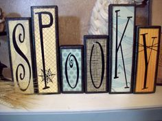 """Spooky"" Wood blocks"
