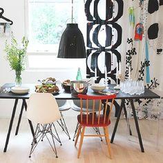 #throwbackthursday #home #hay #marimekko #caravaggio #vitra #eames Decor, Kitchen Diner, Kitchen Decor, Marimekko, Hay Loop Stand, Furniture, Home Decor, Dining Table, Interior Decorating