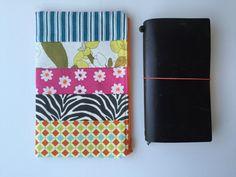 Midori Traveler's Notebook Bag Patchwork Zipper by LowlandOriginals on Etsy