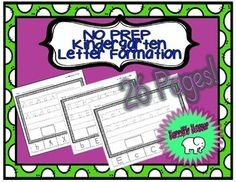 NO PREP Kindergarten Letter FormationSimply print and use!! Absolutely NO PREP needed!This set includes 26 ready-to-use worksheets that focus on letter formation! Each page is perfect for morning work, homework, a literacy center, early finishers tasks, or as a review of skills learned!**This set is INCLUDED in my NO PREP Kindergarten Letter BUNDLE! Letter Formation, Early Finishers, Morning Work, Literacy Centers, Homework, Worksheets, Prepping, Kindergarten, Teacher