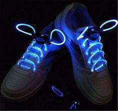 SOLMORE Lacets LED lumineux Décoration Chaussure pour Activité de Nuit,Soirée,Sport,Danse,Basket,Fille,Garçon Cadeau pour…