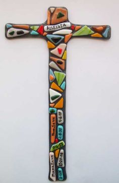 Image detail for -large fused glass cross