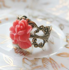 """Vintage Ring... """"A Rose By Any Other Name"""". $14.00, via Etsy."""