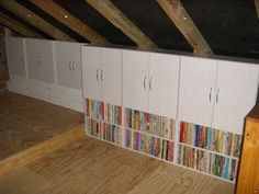 Garage Attic Bookshelves And Storage Cabinets