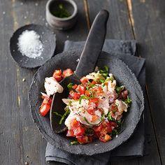 Süßwasserfisch-Ceviche mit Bärlauch