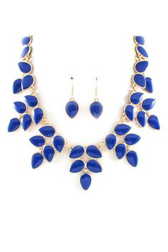 Blue + gold necklace //