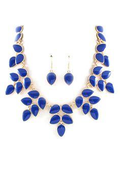 Blue + gold necklace //