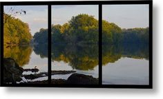 Autumn Shell Rock Triptych Metal Print by Bonfire #Photography