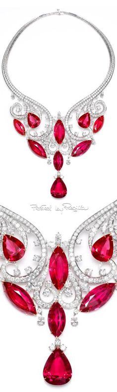 Regilla ⚜ Harry Winston, this amazing cascading drop necklace features rare spinels and more than 500 diamonds