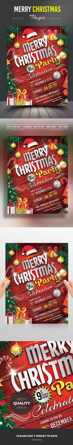 Christmas Wreath  Event FlyerPoster Template  Event Flyers
