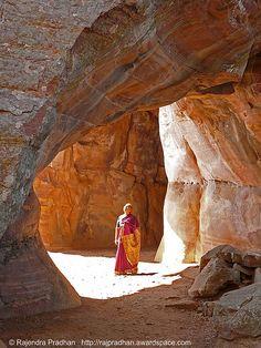 Bhimbetka caves near Bhopal, India