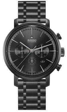 Rado DiaMaster Ceramic Automatic Chronograph Matt Black Ref Ref: 650.0090.3.019