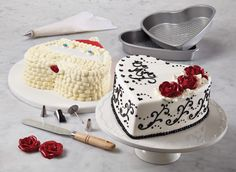 Make your sweet-heart a heart-shaped cake! This 10-Piece Cake Boss Bakeware Set doubles as a Santa cake kit too. Click on the image and get it for yourself. #LoveIsInTheBaking