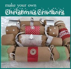 Make Your Own English Crackers--A simple and fun tradition to start this year!