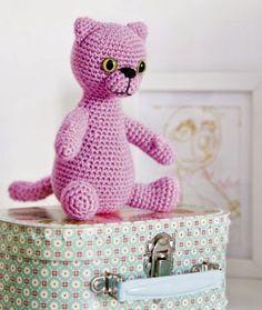 Kuva: Kotivinkkii  Pinky-kissa ilmainen amigurumi ohje tehnyt Kotivinkki  Vaikeusaste:Keskivaikea...