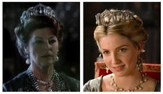 """This tiara has been worn by Ava Gardner in """"Harem"""" and Annabelle Wallis in """"The Tudors.""""  #TheTudors #AnnabelleWallis #Tiara #AvaGardner #Harem #JaneSeymour"""