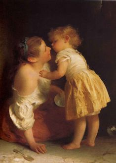 """A Moment of Affection"" by John Morgan.......... Any woman that has had a child knows how quickly these precious moments pass.  This art work takes you back in time with rapid response."